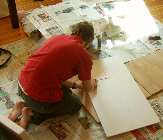 Anleitung Styroporziegel II: Zeichnen