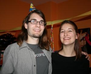 Annika und Benedict bei der Überraschungsgeburtstagsparty am 10.02.2009.