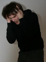 Ödipus (Martin) erfährt, dass er der Mörder des Laios ist. Foto vom 20.02.2009