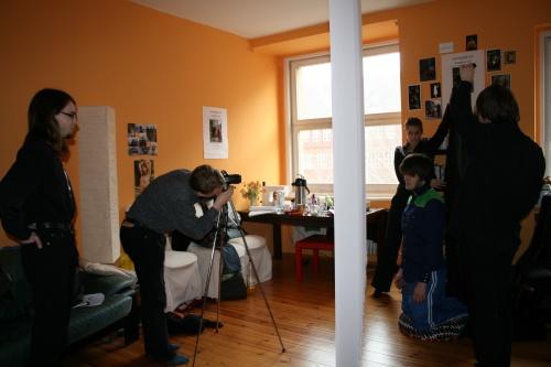 Unser Fotograf Björn bei der Arbeit. Foto vom 15.03.2009.