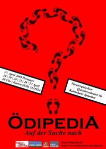 Ödipedia-Plakat, erster Entwurf