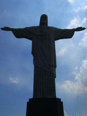 Jesusstatue in Rio de Janeiro. Foto aus dem Urlaub des Regisseurs im März 2008.