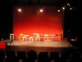 Bühnenbild von Platon:Phaidon